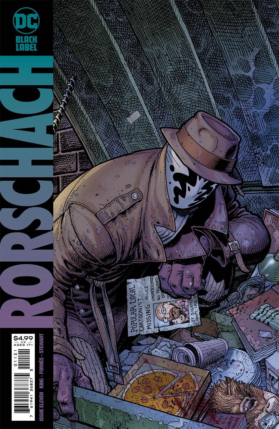 Rorschach #11 Cover B Variant Arthur Adams Cover