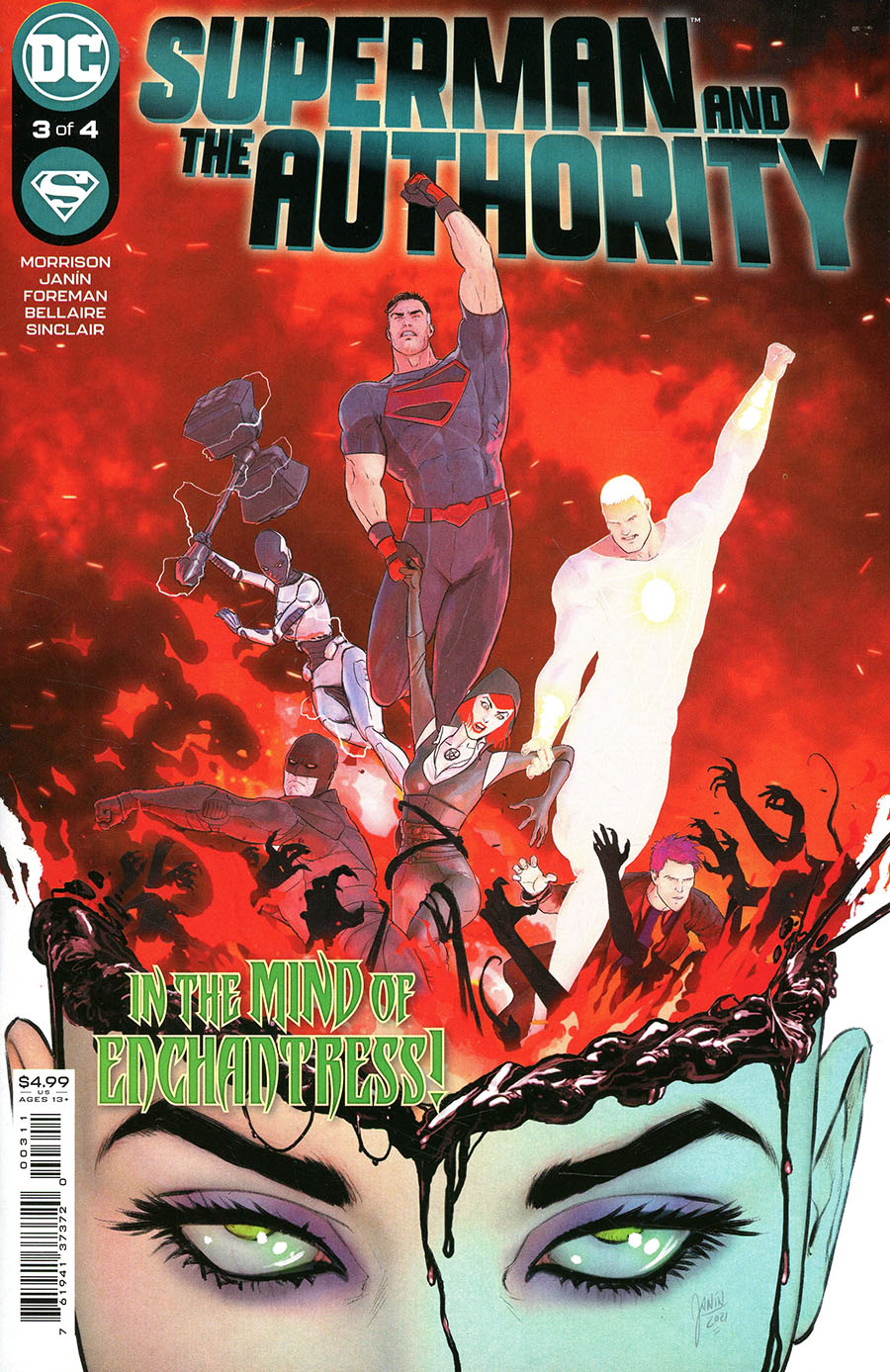 Superman And The Authority #3 Cover A Regular Mikel Janin Cover