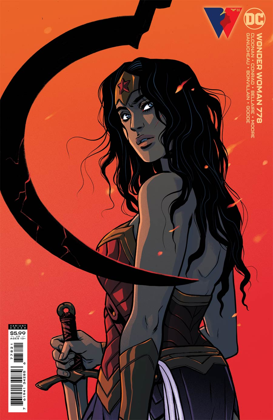 Wonder Woman Vol 5 #778 Cover B Variant Becky Cloonan Card Stock Cover