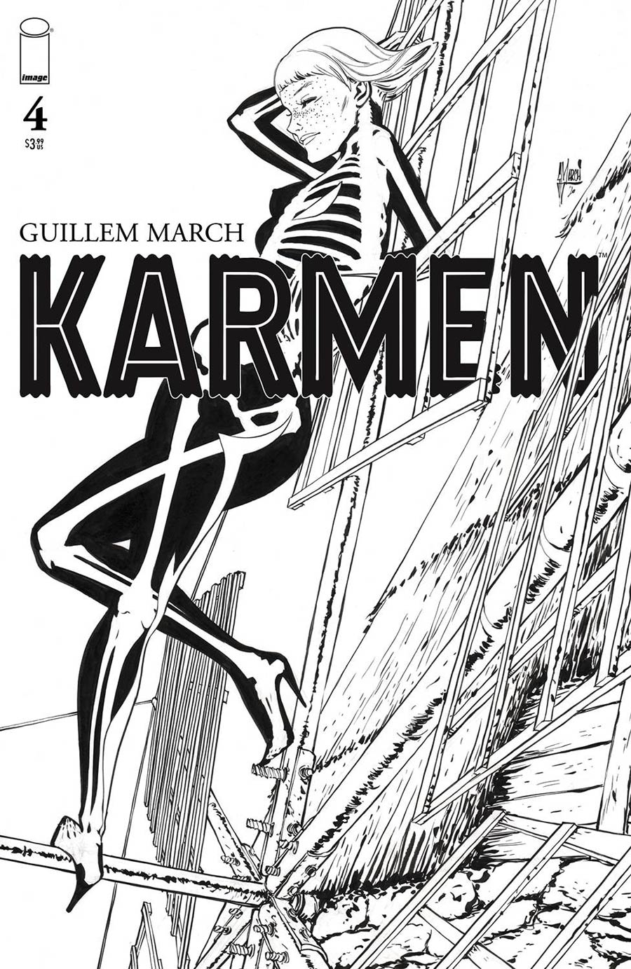 Karmen #4 Cover B Incentive Guillem March Black & White Cover