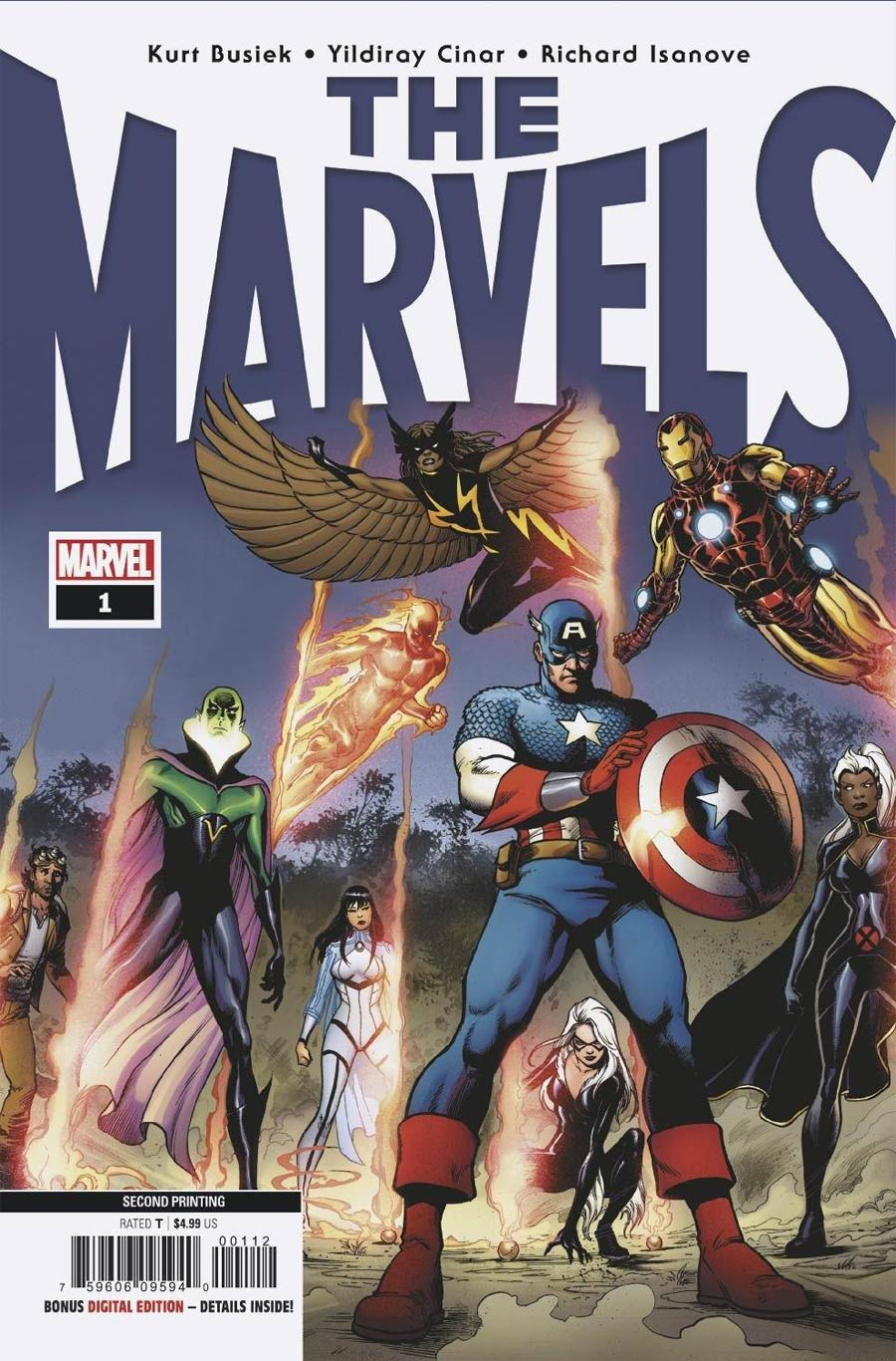 The Marvels #1 Cover E 2nd Ptg Yildiray Cinar Variant Cover