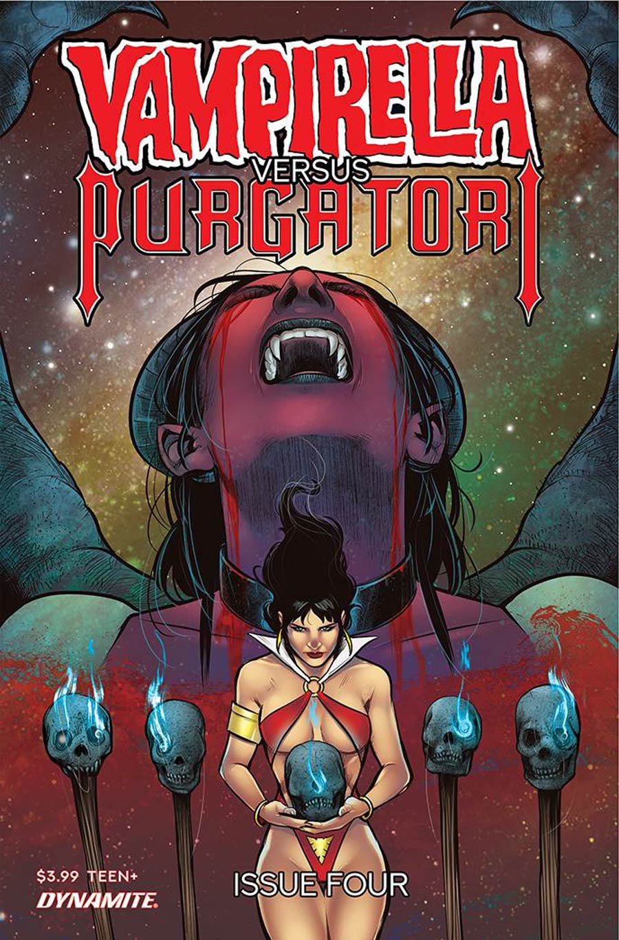 Vampirella vs Purgatori #4 Cover F Variant Alvaro Sarraseca Premium Cover