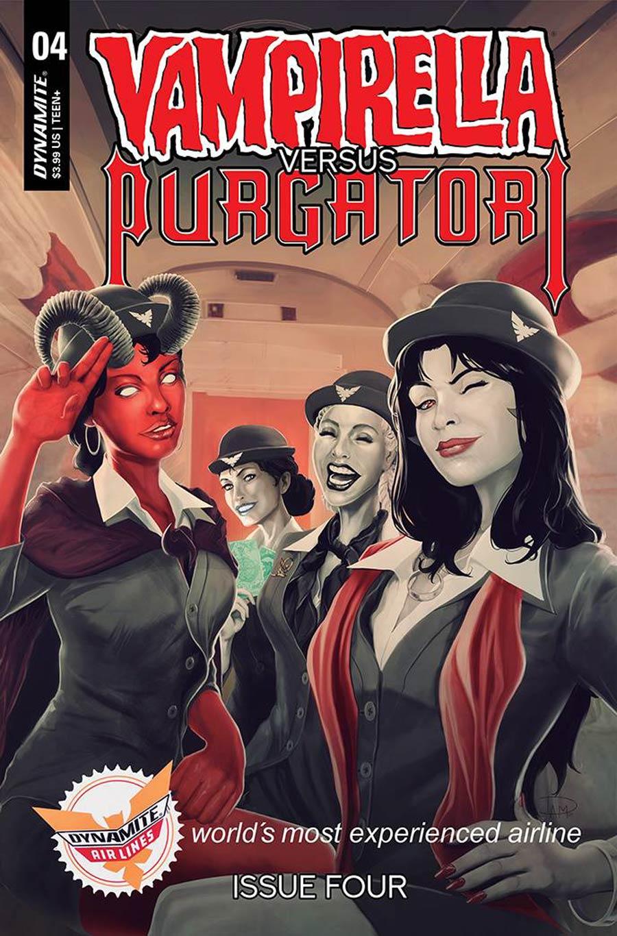 Vampirella vs Purgatori #4 Cover G Variant Daniel Maine Premium Cover