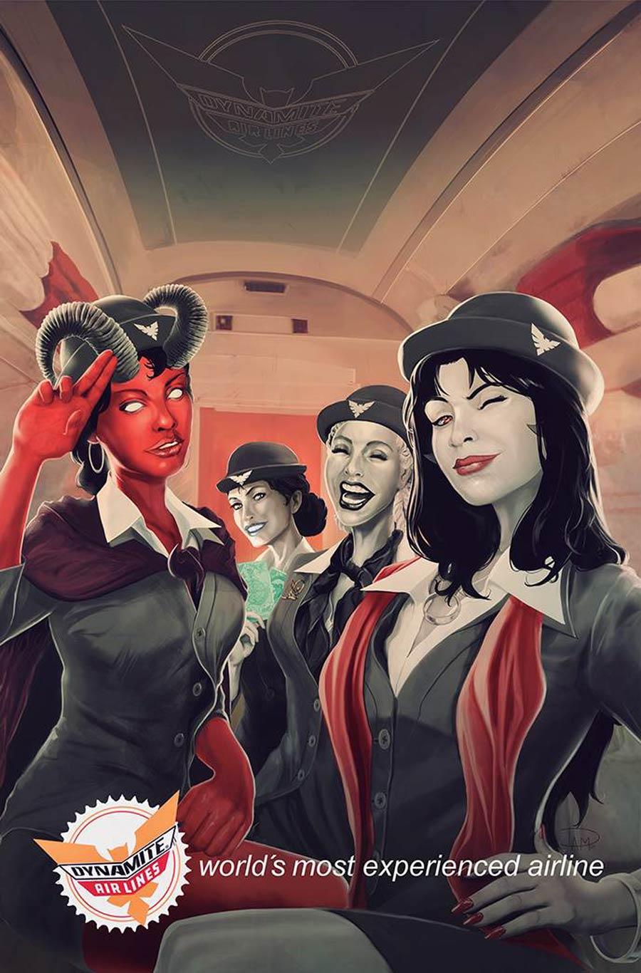 Vampirella vs Purgatori #4 Cover I Variant Daniel Maine Virgin Cover