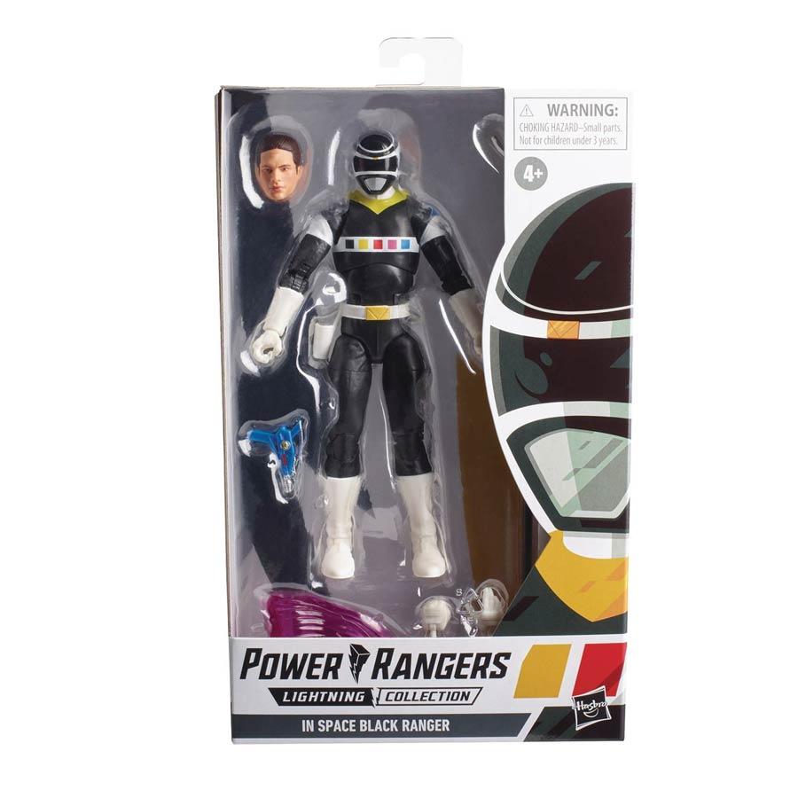 Power Rangers Lightning Series Wave 10 6-Inch Action Figure - Power Rangers In Space Black Ranger