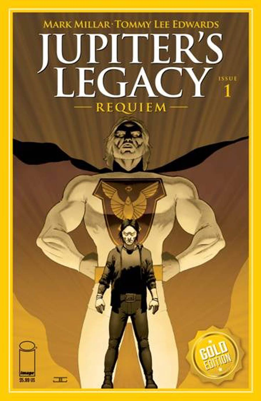 Jupiters Legacy Requiem #1 Cover I Incentive John Cassaday Gold Foil Variant Cover