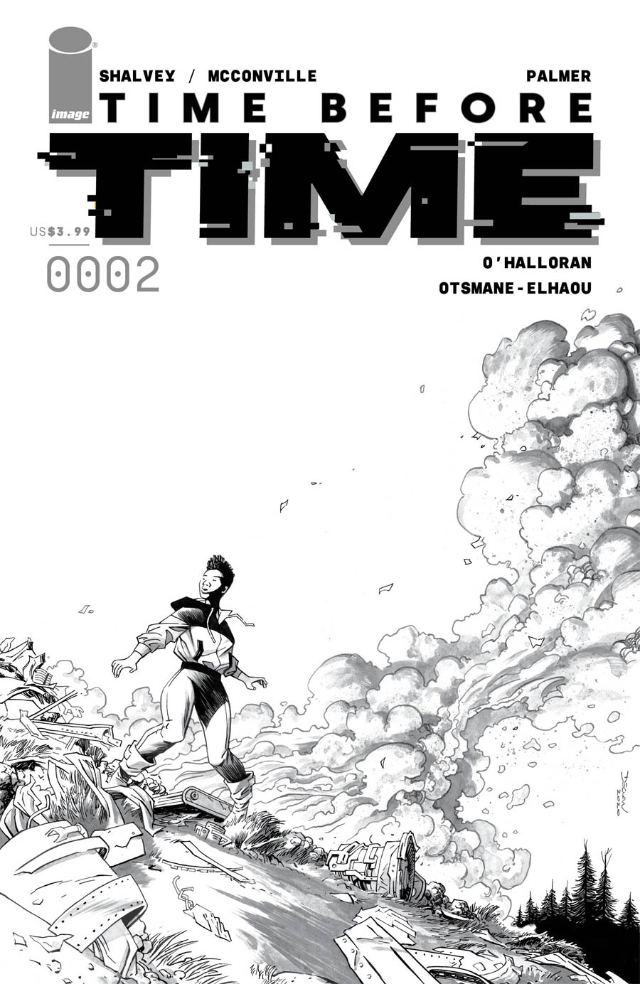 Time Before Time #2 Cover D Incentive Declan Shalvey Black & White Cover