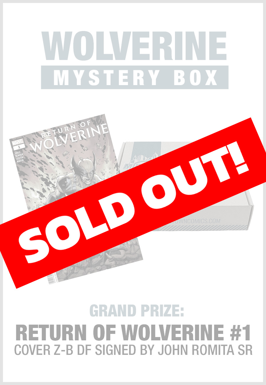 SOLD OUT - Midtown Comics Mystery Box - Wolverine (Purchase for a chance to win Return Of Wolverine #1 Signed By John Romita Sr)