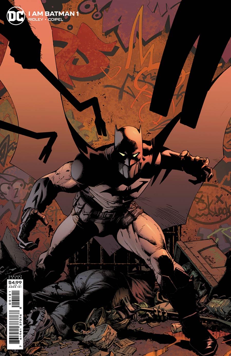 I Am Batman #1 Cover B Variant Greg Capullo Card Stock Cover