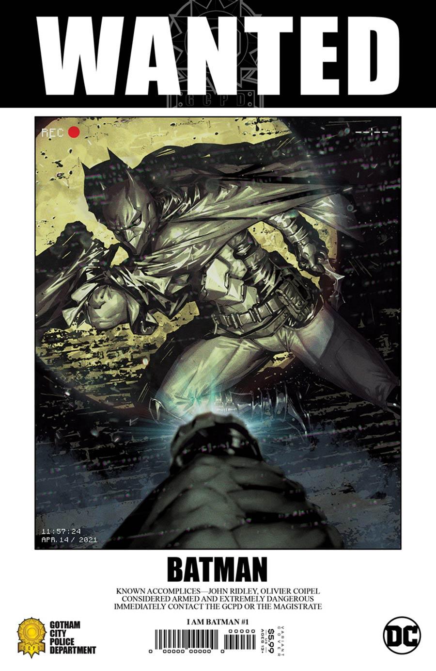 I Am Batman #1 Cover E Incentive Kael Ngu Card Stock Variant Cover