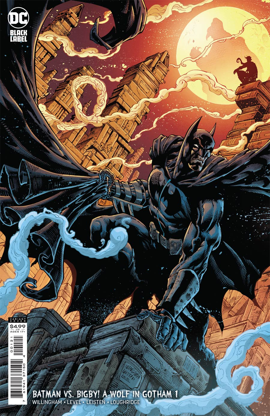 Batman vs Bigby A Wolf In Gotham #1 Cover B Variant Brian Level & Jay Leisten Card Stock Cover