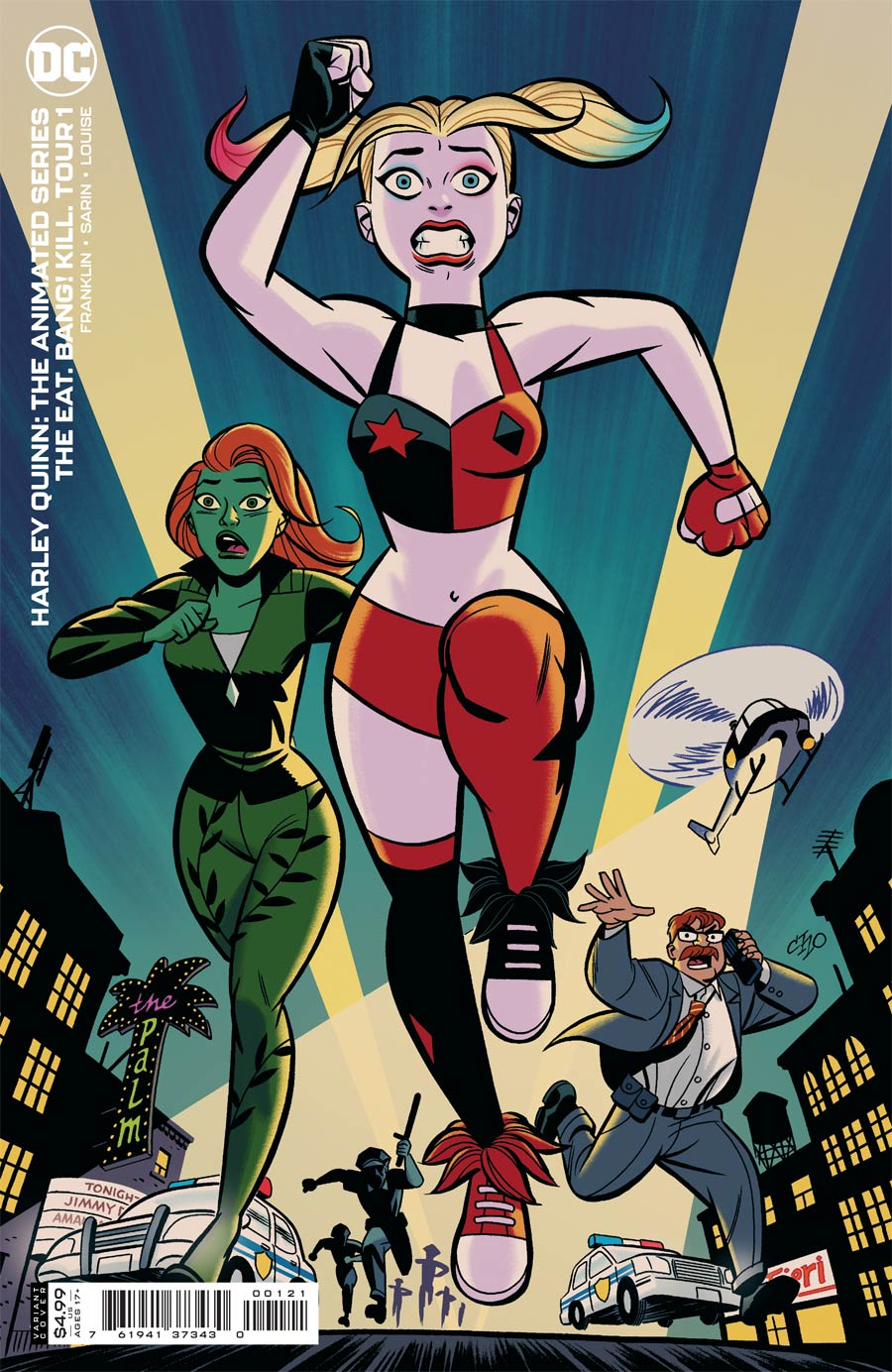 Harley Quinn The Animated Series The Eat Bang Kill Tour #1 Cover B Variant Michael Cho Card Stock Cover