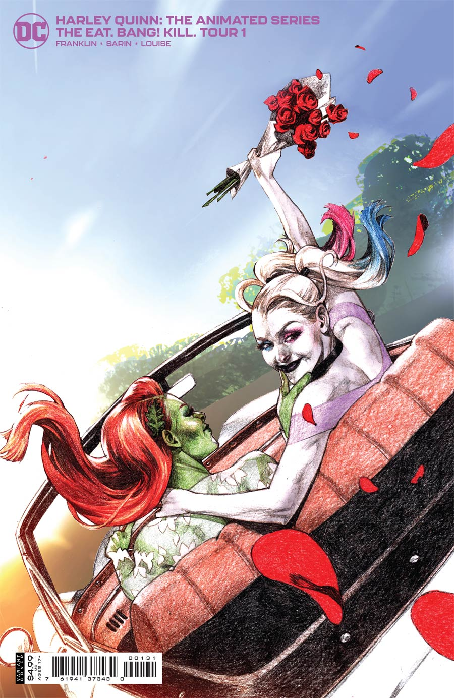 Harley Quinn The Animated Series The Eat Bang Kill Tour #1 Cover C Incentive Davi Card Stock Variant Cover