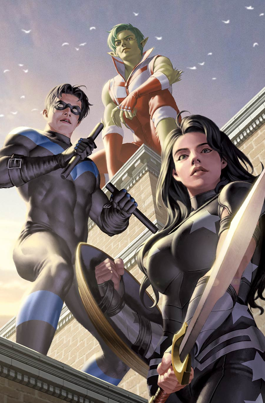Titans United #1 Cover C Incentive Junggeun Yoon Card Stock Variant Cover
