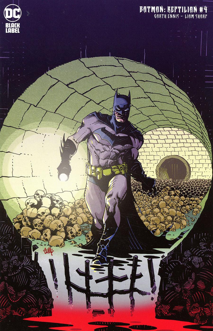 Batman Reptilian #4 Cover B Variant Cully Hamner Cover