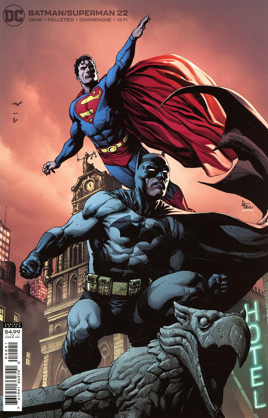 Batman Superman Vol 2 #22 Cover B Variant Gary Frank Card Stock Cover