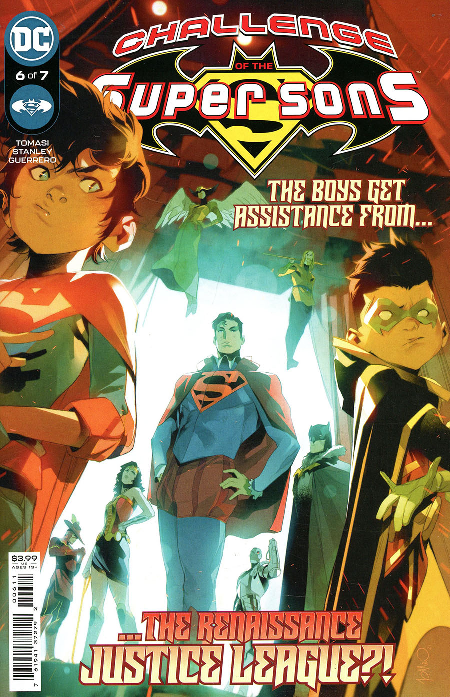 Challenge Of The Super Sons #6 Cover A Regular Simone Di Meo Cover