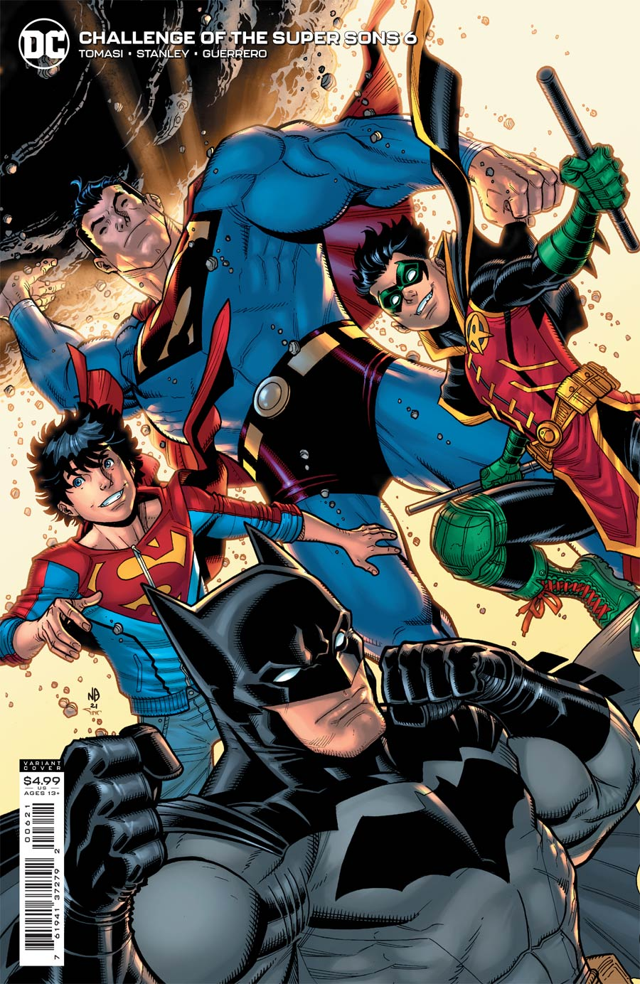 Challenge Of The Super Sons #6 Cover B Variant Nick Bradshaw Card Stock Cover