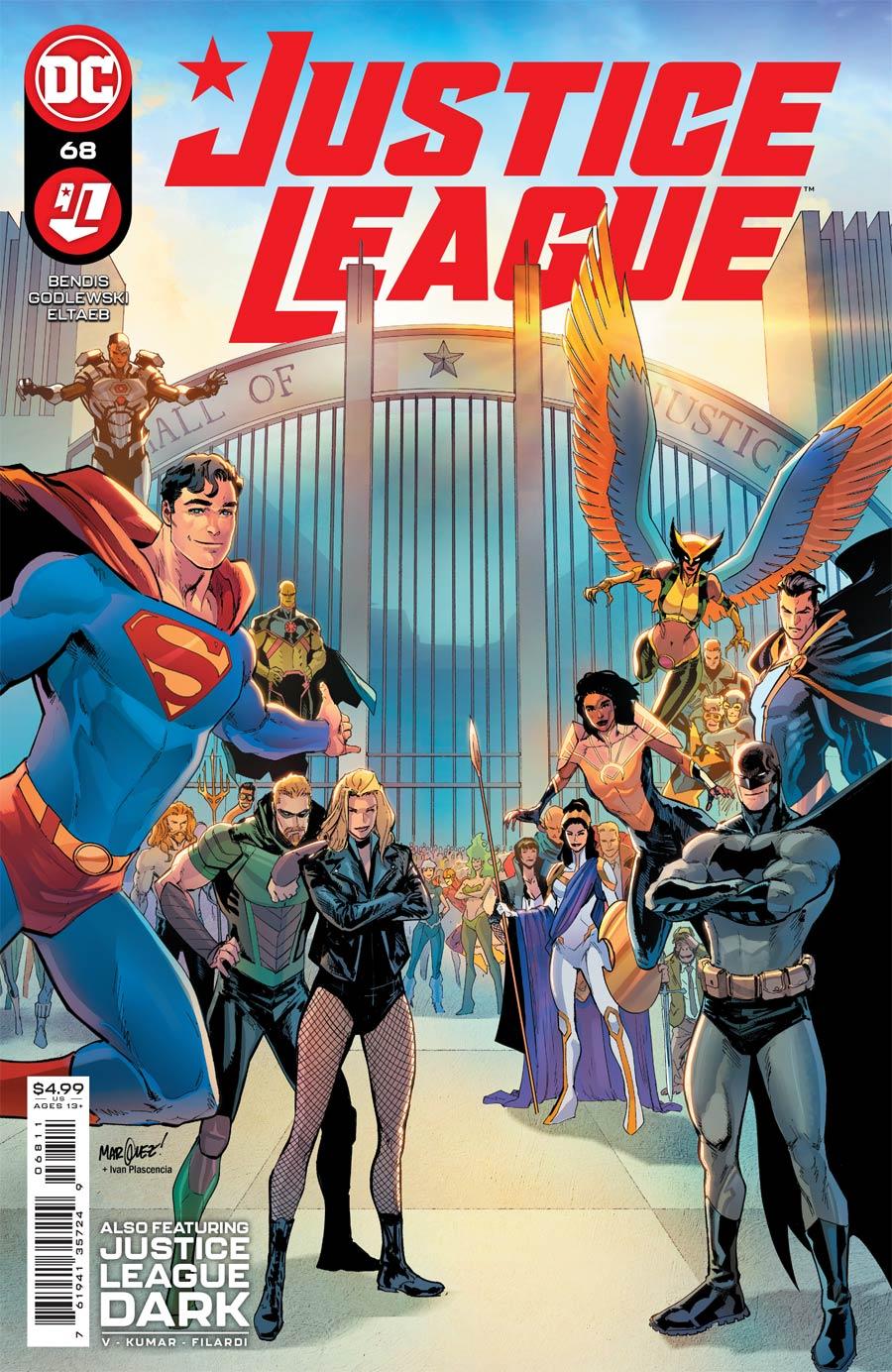 Justice League Vol 4 #68 Cover A Regular David Marquez Cover