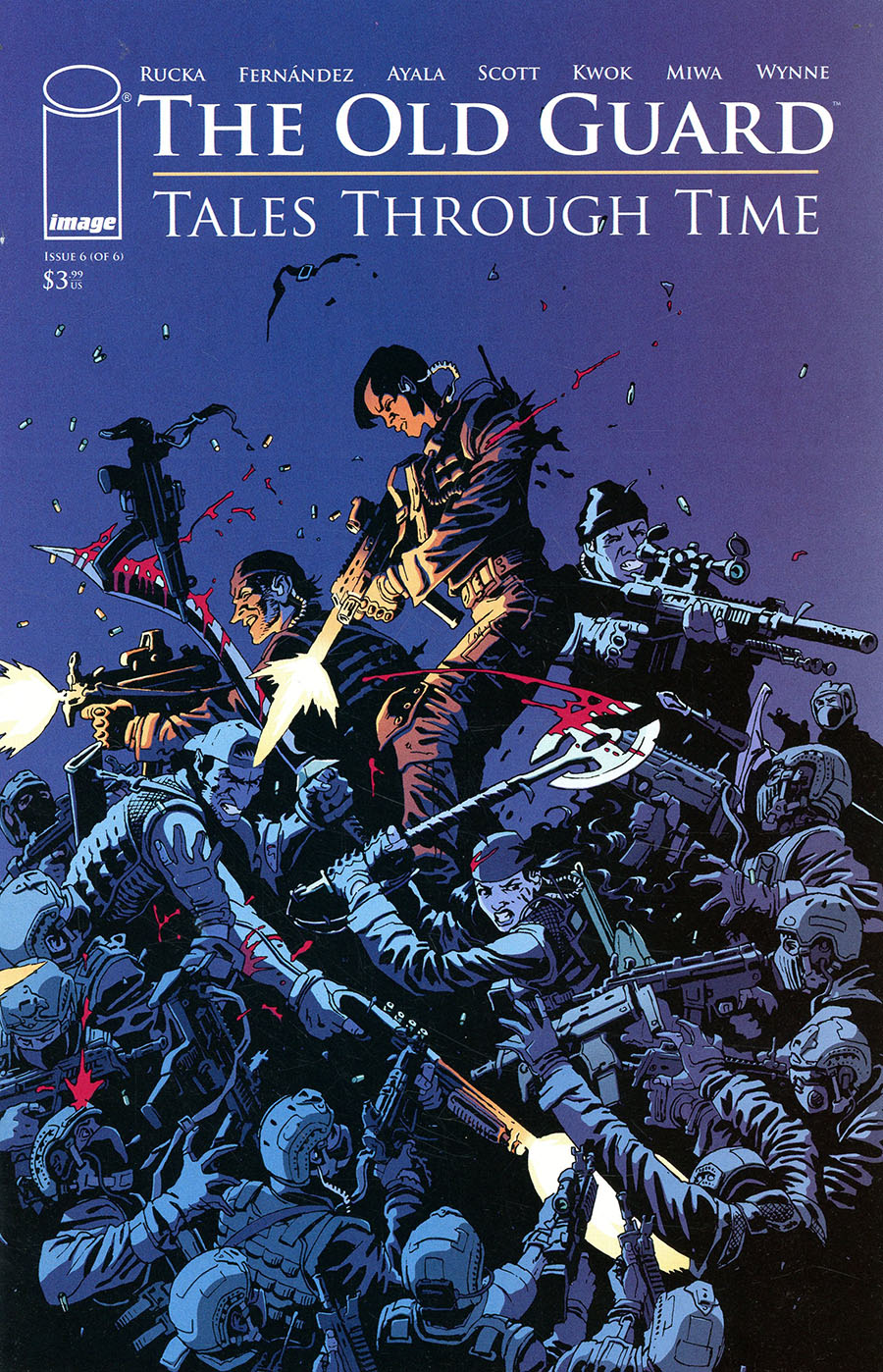 Old Guard Tales Through Time #6 Cover C Variant Leandro Fernandez Interconnecting Battlefield Cover