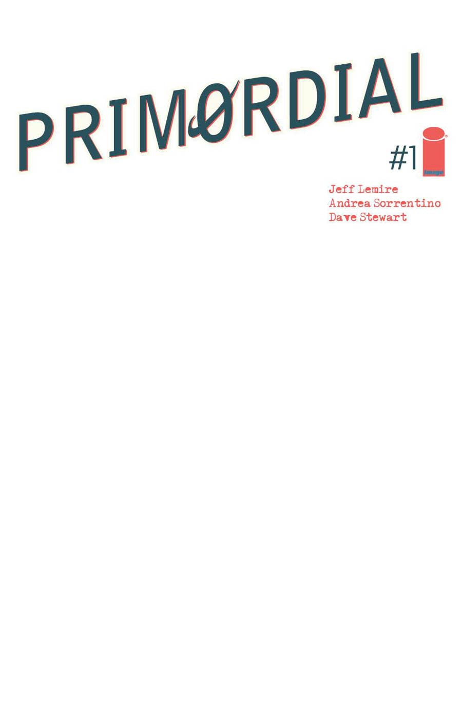 Primordial #1 Cover E Variant Blank Cover
