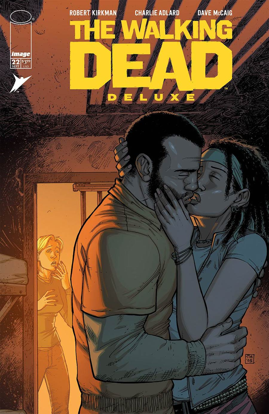 Walking Dead Deluxe #22 Cover B Variant Tony Moore & Dave McCaig Cover