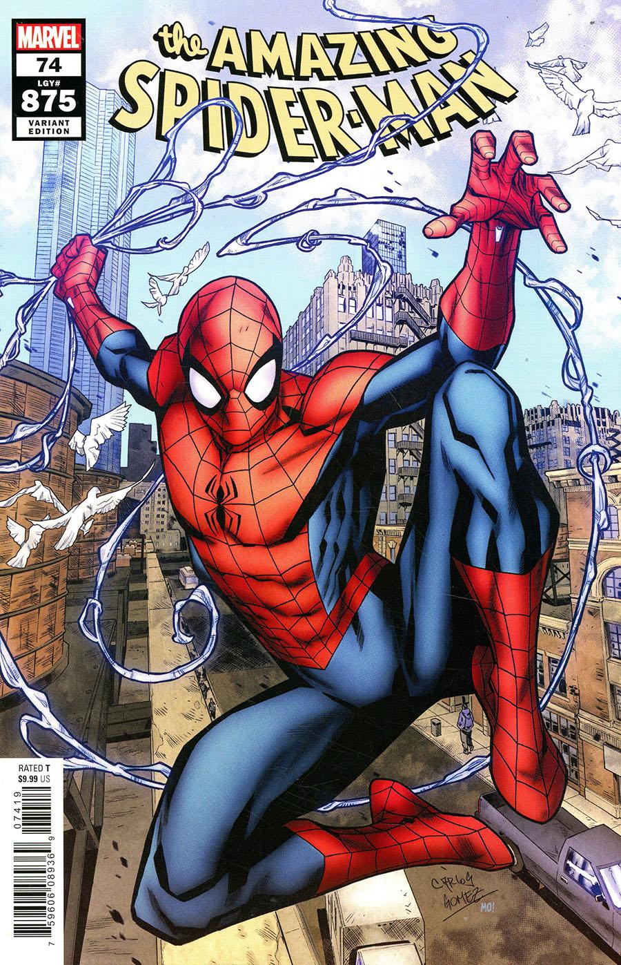 Amazing Spider-Man Vol 5 #74 Cover J Variant Carlos Gomez Cover (#875)