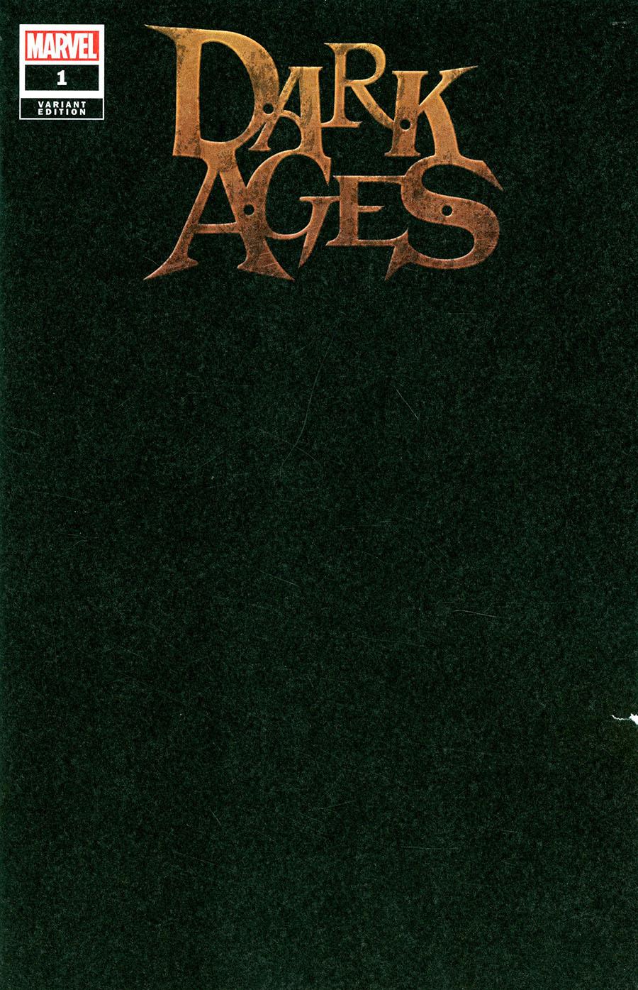 Dark Ages #1 Cover E Variant Black Blank Cover
