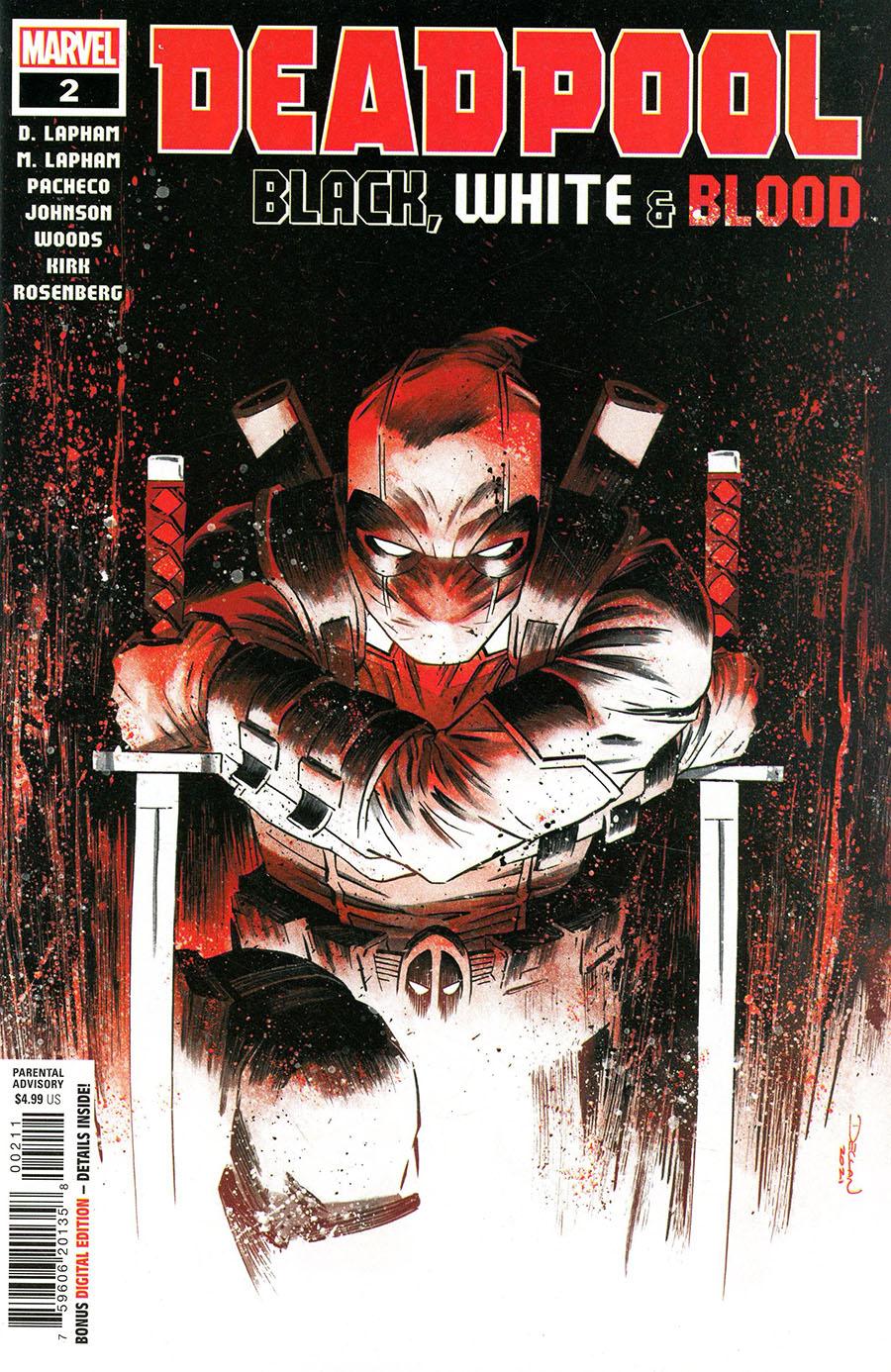Deadpool Black White & Blood #2 Cover A Regular Declan Shalvey Cover
