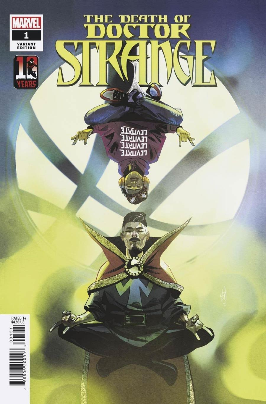 Death Of Doctor Strange #1 Cover B Variant Mike Del Mundo Miles Morales Spider-Man 10th Anniversary Cover