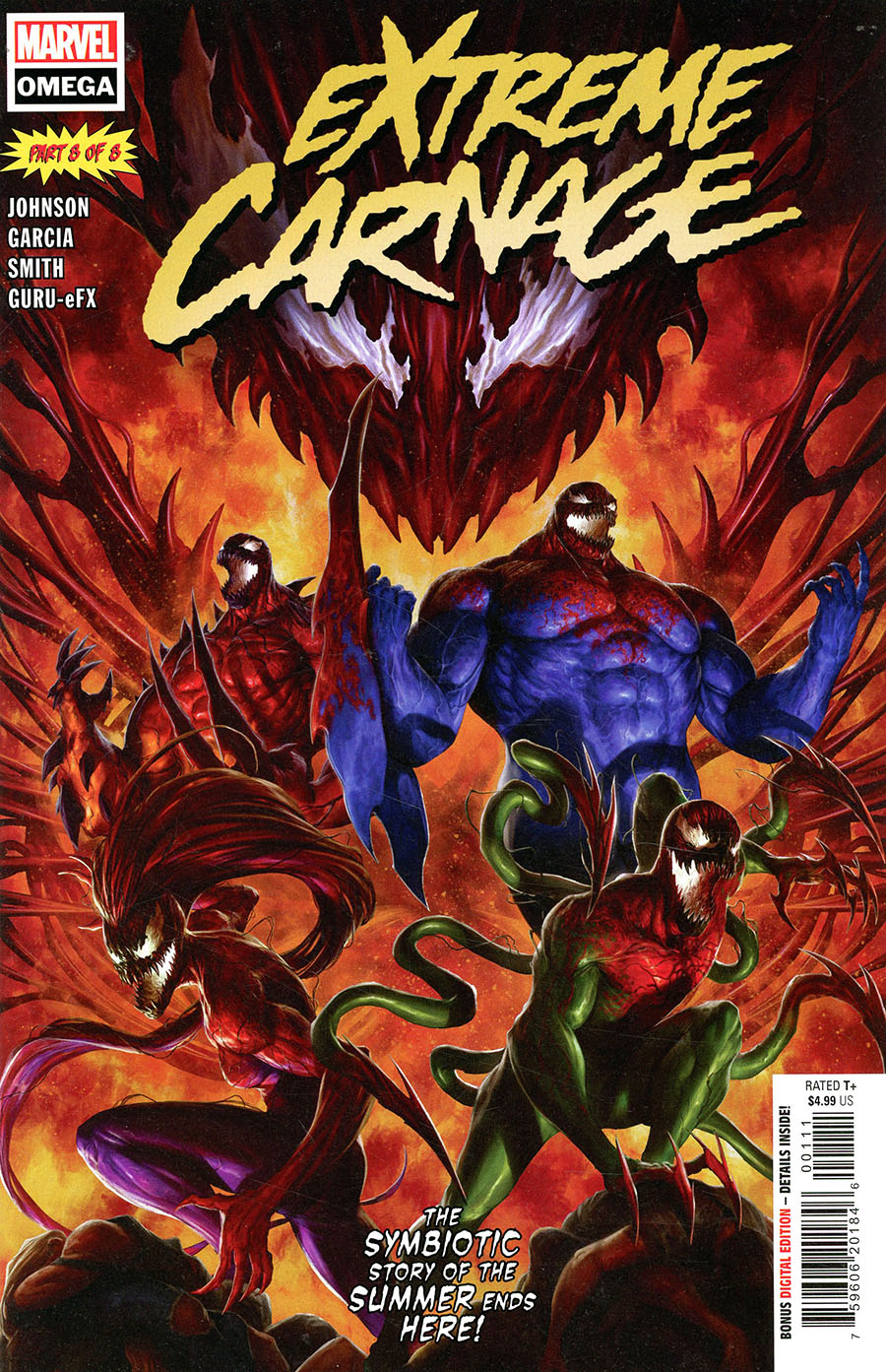 Extreme Carnage Omega #1 (One Shot) Cover A Regular Dave Rapoza Cover