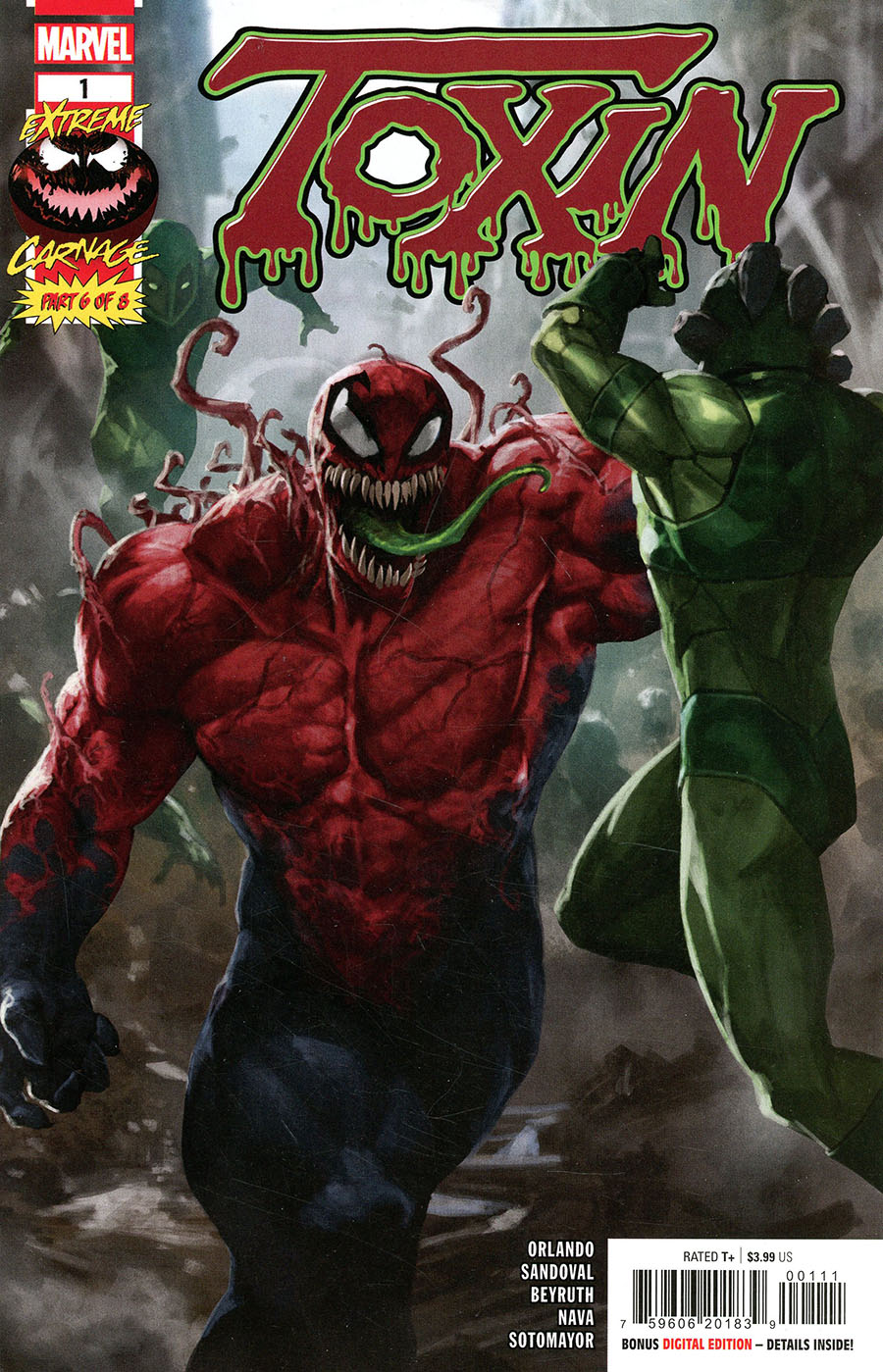 Extreme Carnage Toxin #1 (One Shot) Cover A Regular Skan Cover (Limit 1 Per Customer)
