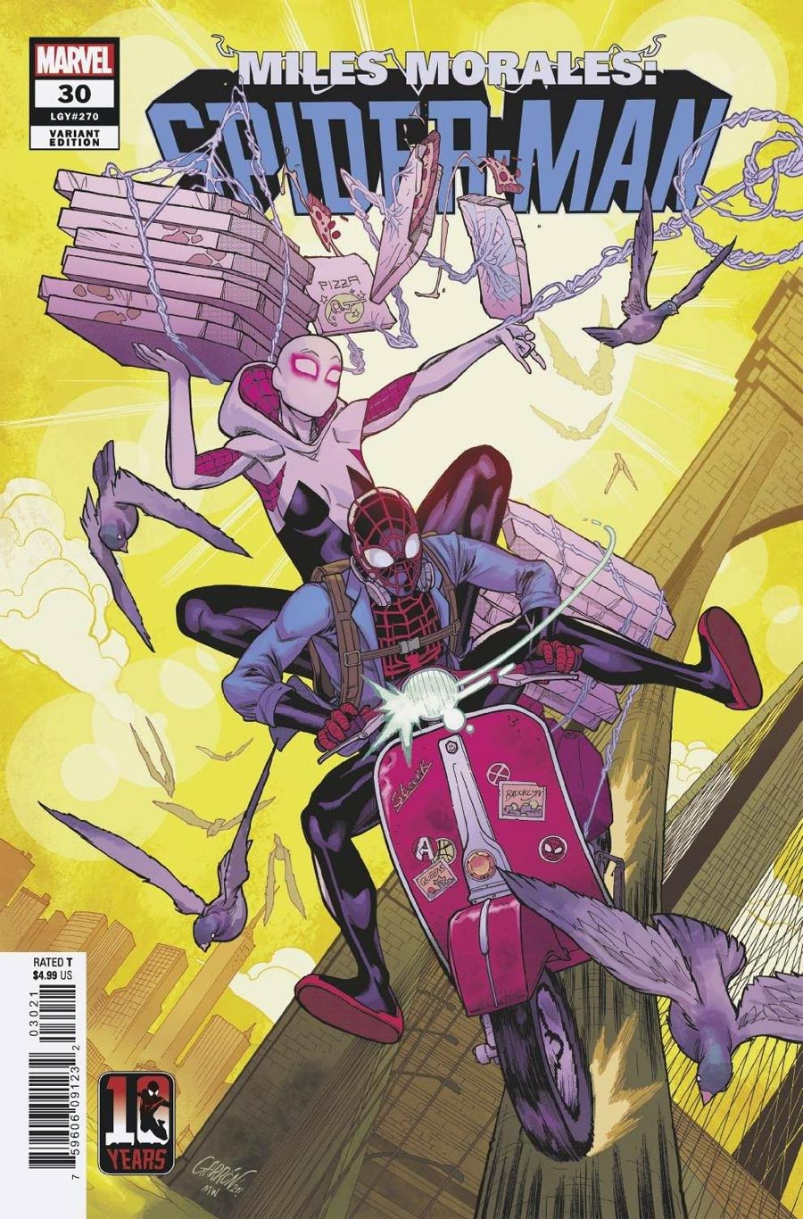 Miles Morales Spider-Man #30 Cover B Variant Javier Garron Miles Morales Spider-Man 10th Anniversary Cover