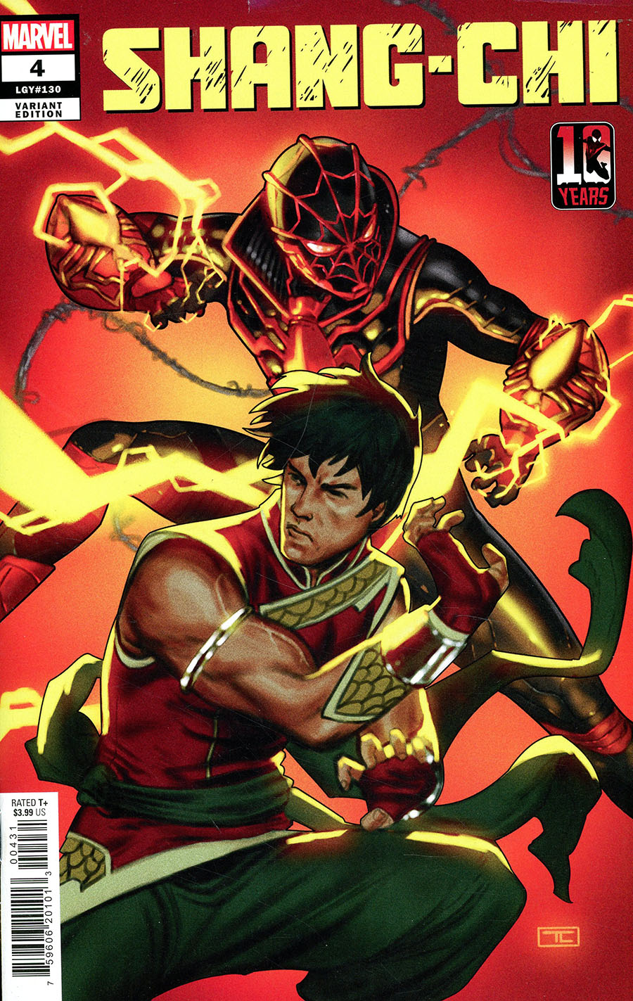 Shang-Chi Vol 2 #4 Cover B Variant Taurin Clarke Miles Morales Spider-Man 10th Anniversary Cover (Limit 1 per customer)