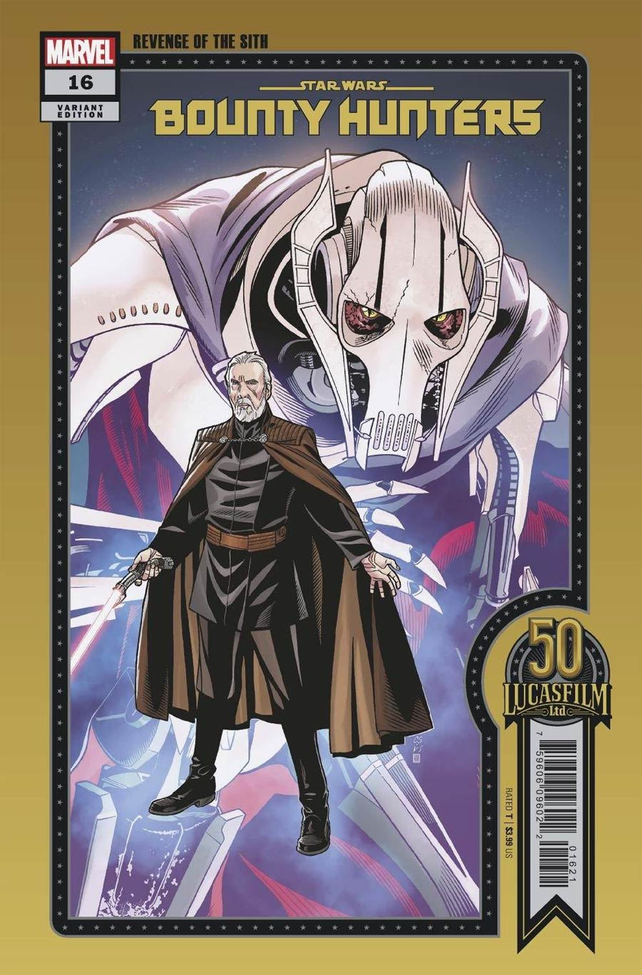 Star Wars Bounty Hunters #16 Cover C Variant Chris Sprouse LucasFilm 50th Anniversary Cover (War Of The Bounty Hunters Tie-In)