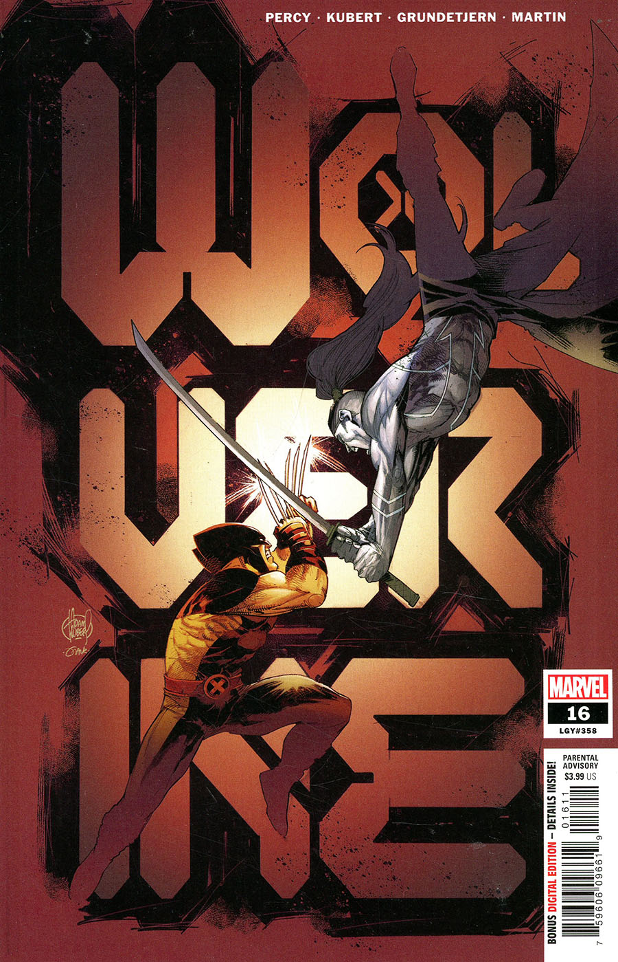 Wolverine Vol 7 #16 Cover A Regular Adam Kubert Cover