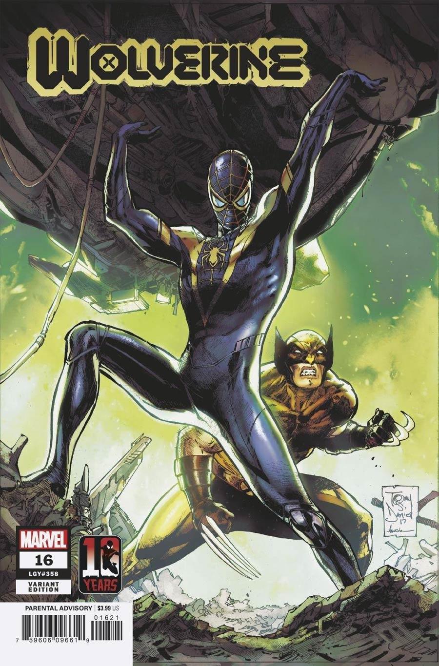 Wolverine Vol 7 #16 Cover B Variant Tony Daniel Miles Morales Spider-Man 10th Anniversary Cover