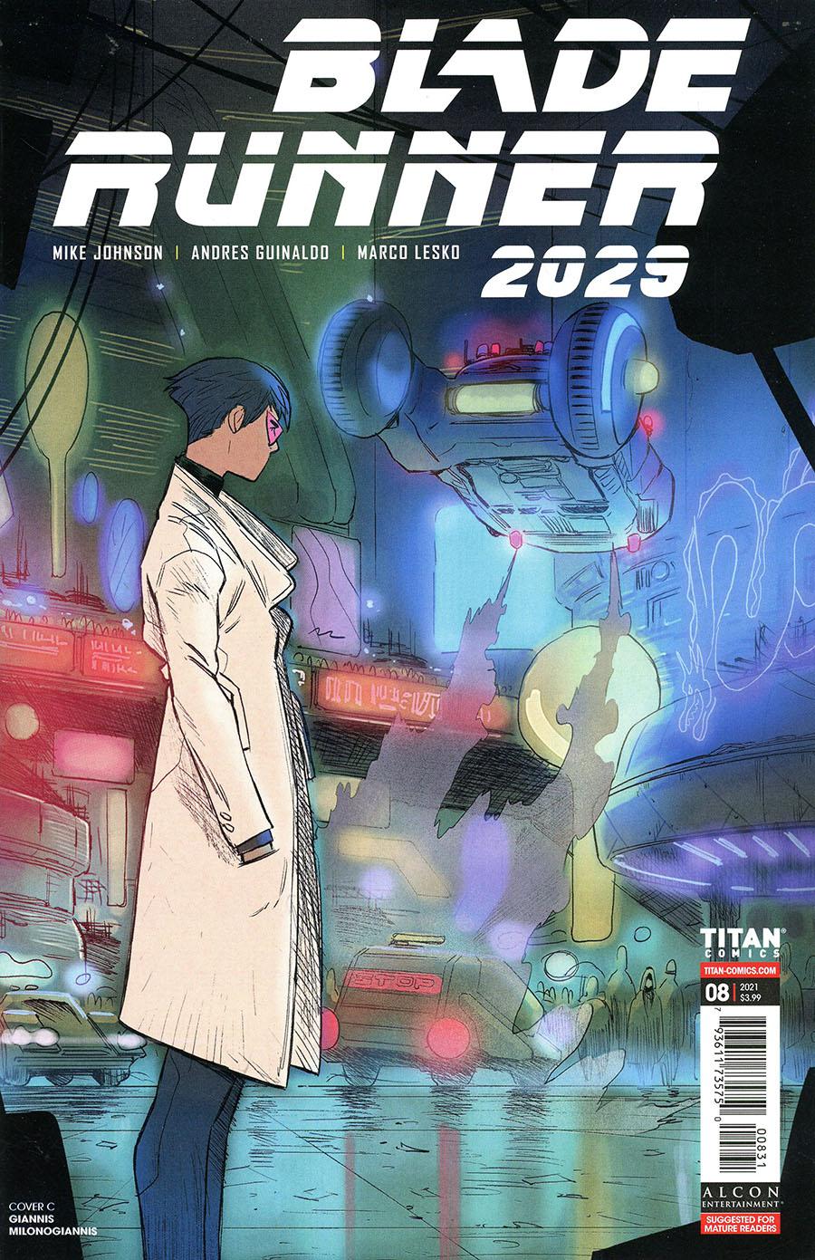 Blade Runner 2029 #8 Cover C Variant Giannis Milonogiannis Cover