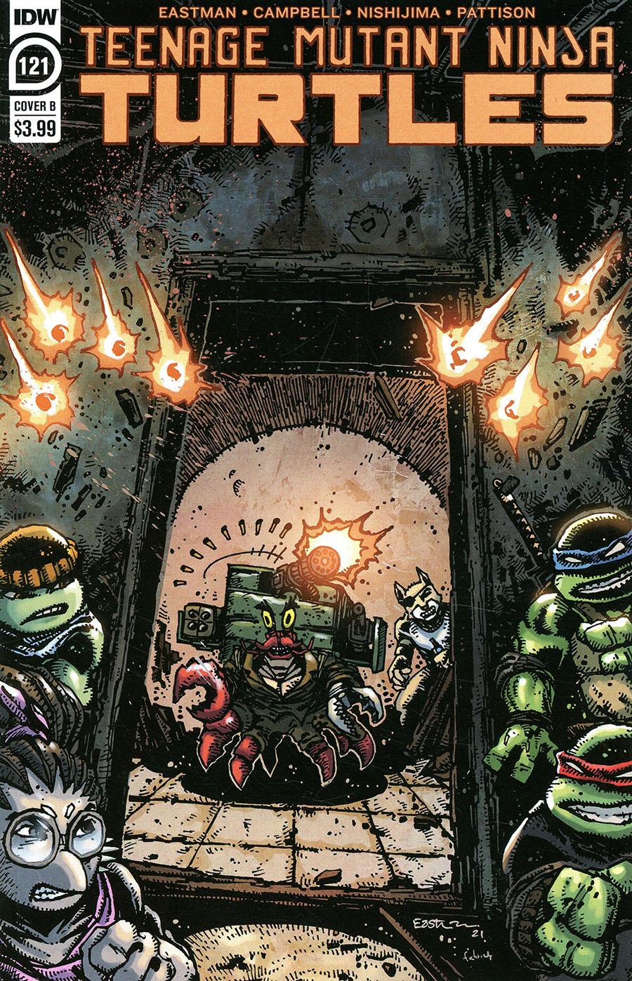Teenage Mutant Ninja Turtles Vol 5 #121 Cover B Variant Kevin Eastman Cover