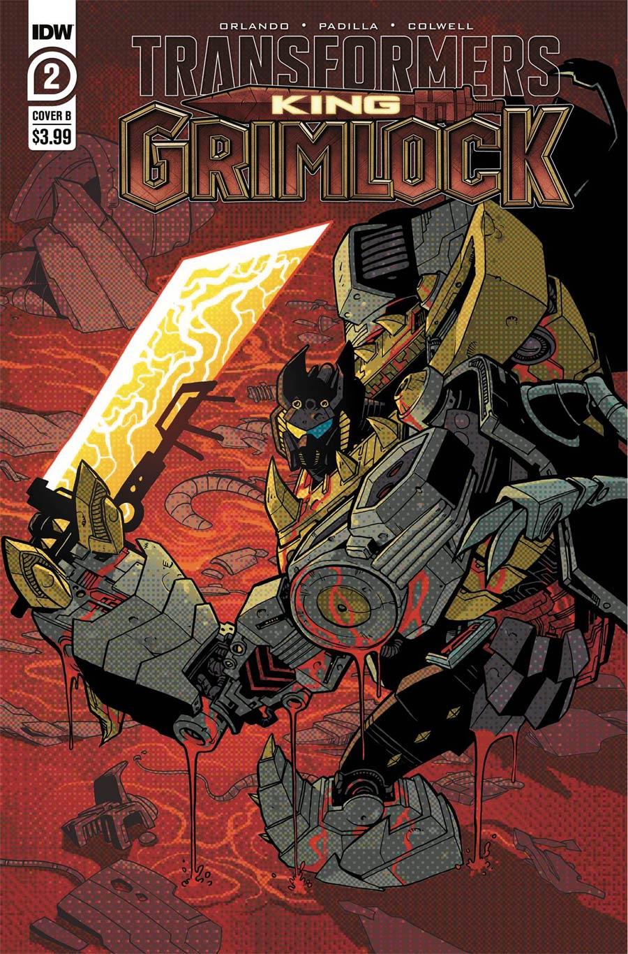 Transformers King Grimlock #2 Cover B Variant Ilias Kyriazis Cover