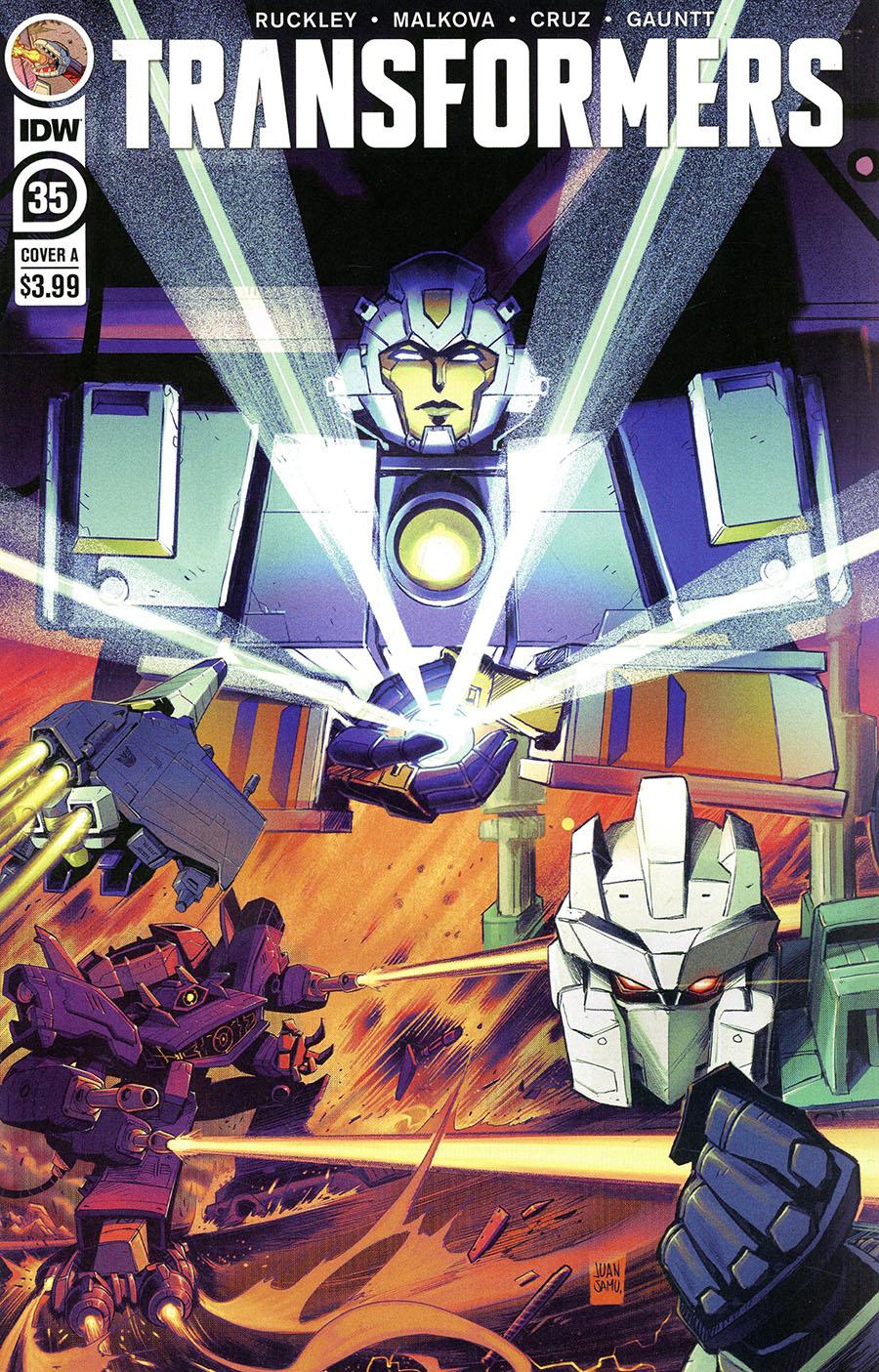 Transformers Vol 4 #35 Cover A Regular Juan Samu Cover