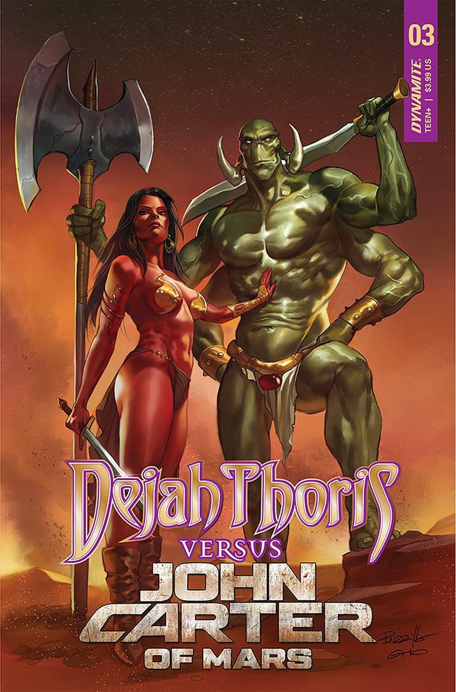 Dejah Thoris Versus John Carter Of Mars #3 Cover A Regular Lucio Parrillo Cover
