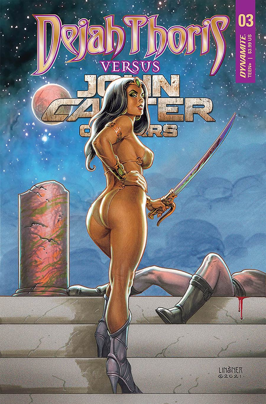 Dejah Thoris Versus John Carter Of Mars #3 Cover B Variant Joseph Michael Linsner Cover