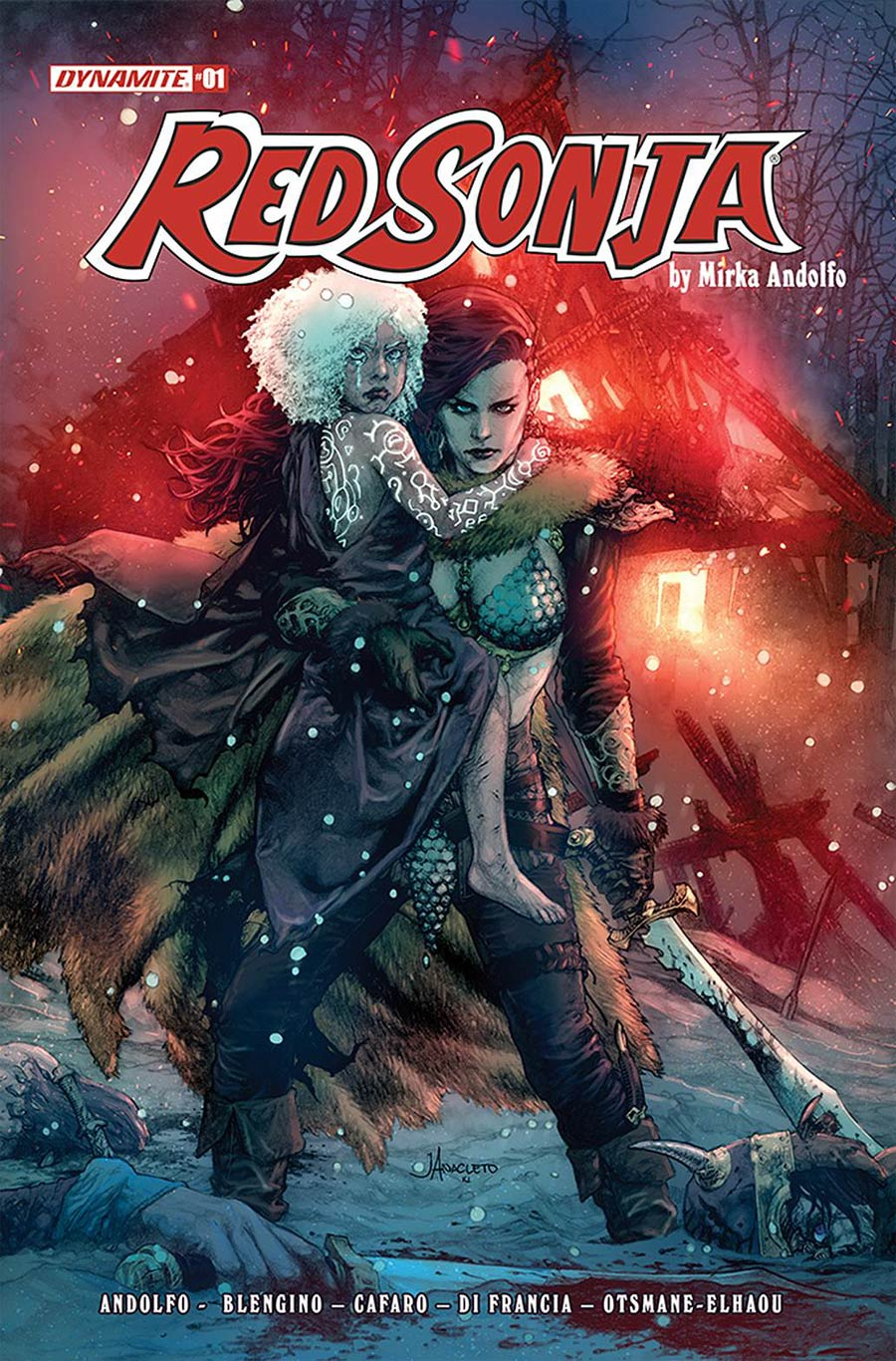 Red Sonja Vol 9 #1 Cover B Variant Jay Anacleto Cover