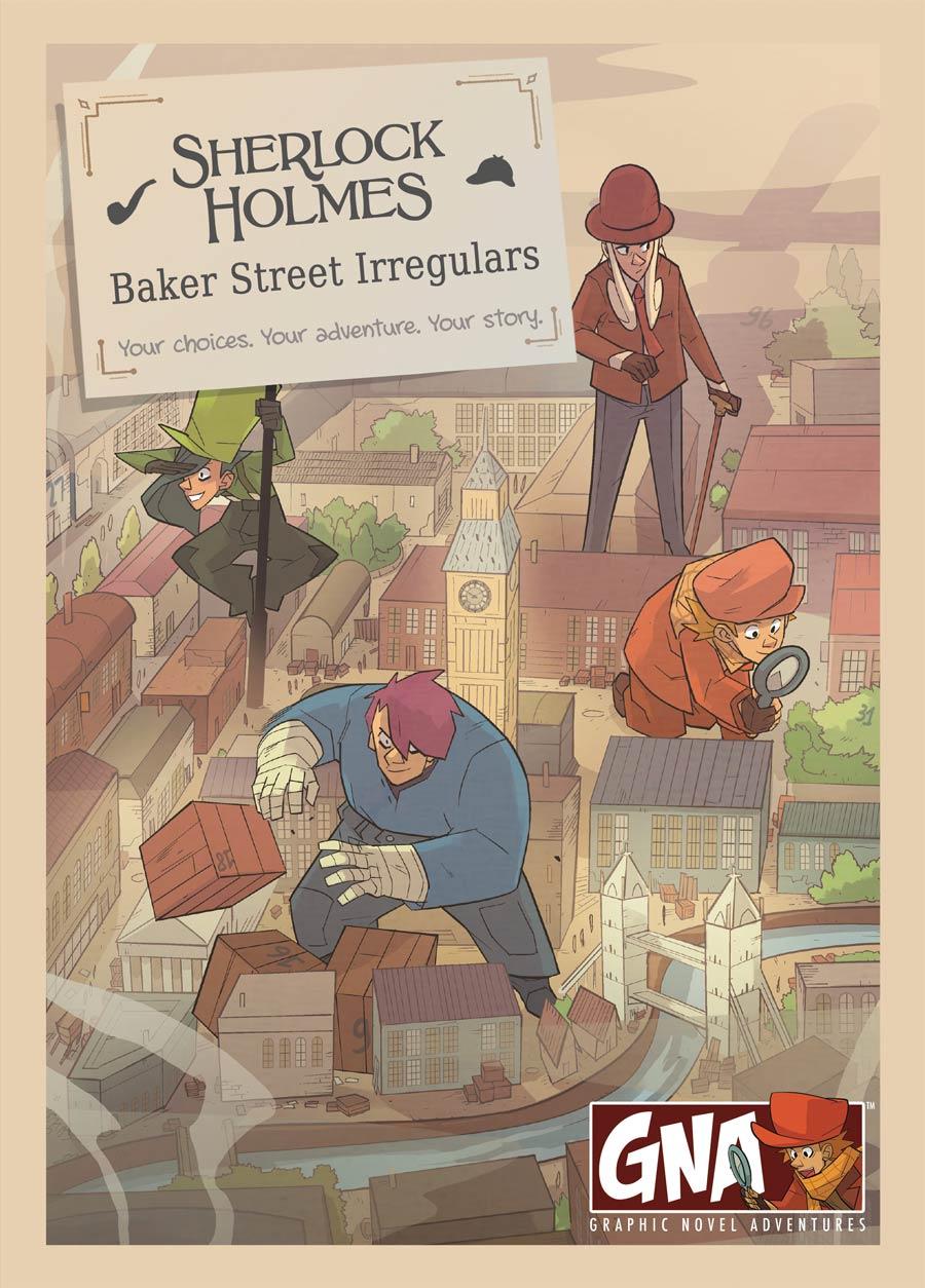 Sherlock Holmes Baker Street Irregulars Graphic Novel Adventures Slipcase Set