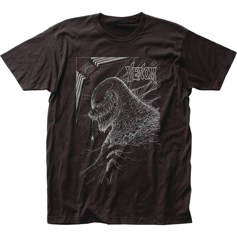 Marvel Webhead Venom Previews Exclusive Black T-Shirt Large