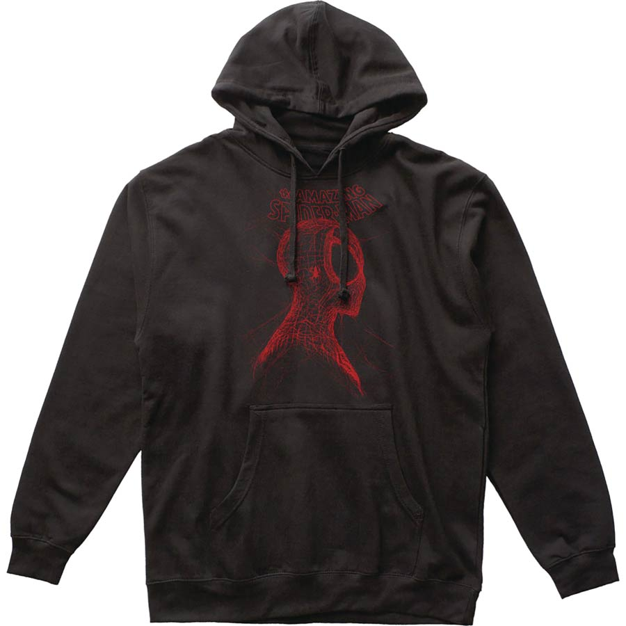 Marvel Webhead Spider-Man Previews Exclusive Black Pullover Hoodie XX-Large
