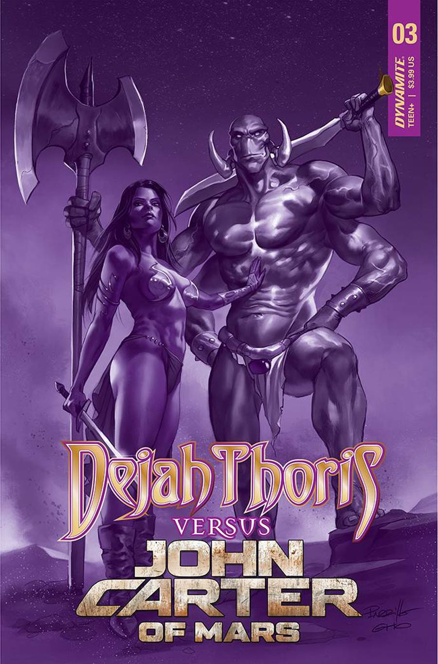 Dejah Thoris Versus John Carter Of Mars #3 Cover E Incentive Alessandro Miracolo Black & White Cover