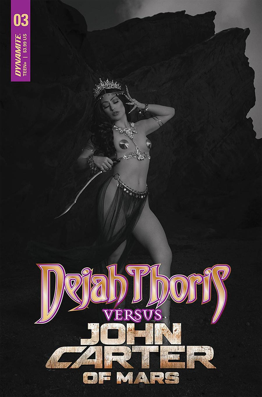Dejah Thoris Versus John Carter Of Mars #3 Cover G Incentive Rachel Hollon Cosplay Photo Black & White Cover
