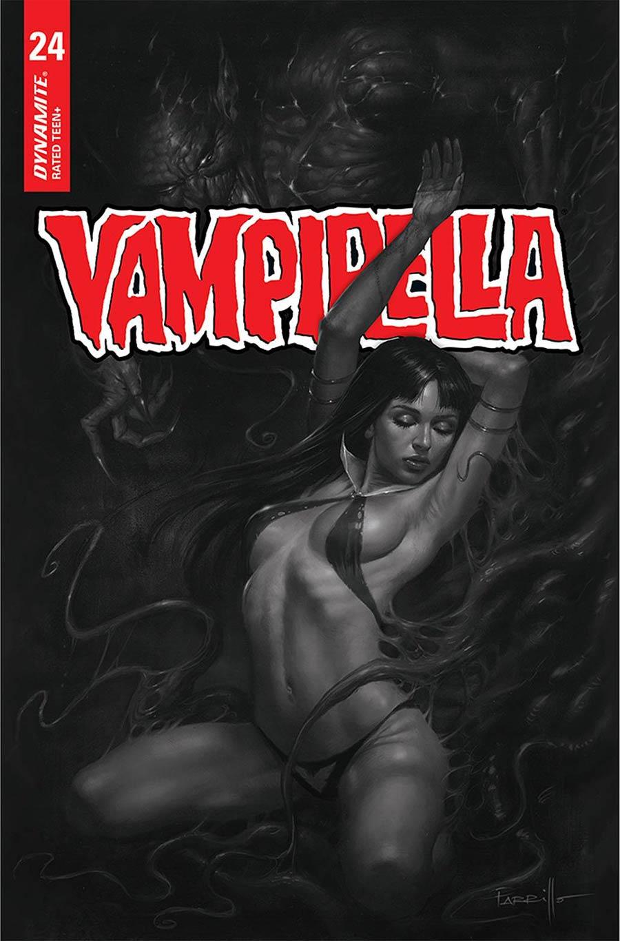 Vampirella Vol 8 #24 Cover F Incentive Lucio Parrillo Black & White Cover